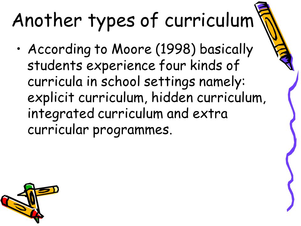 Another types of curriculum