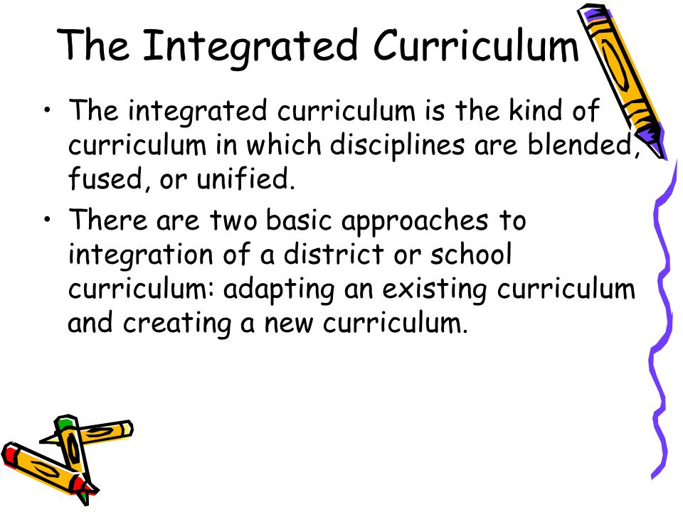 The Integrated Curriculum
