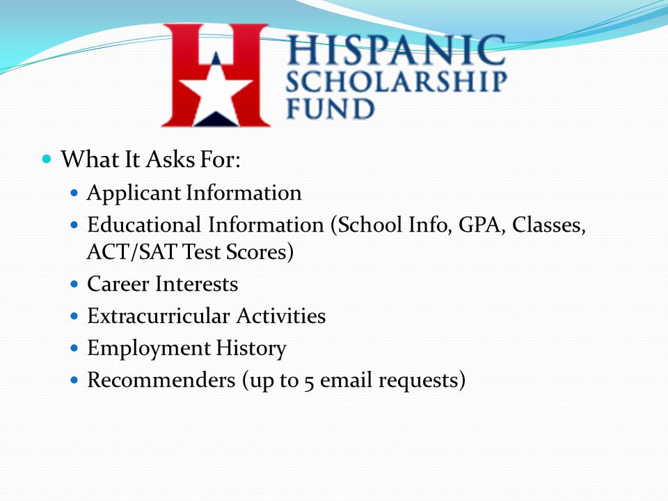 What It Asks For: Applicant Information