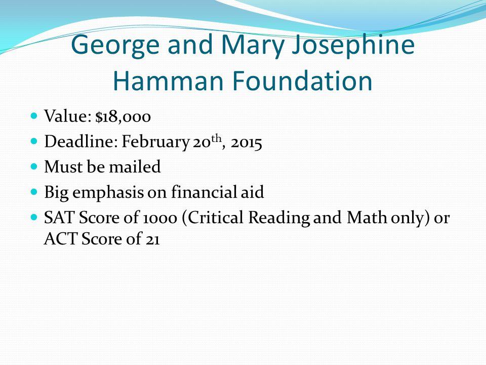 George and Mary Josephine Hamman Foundation