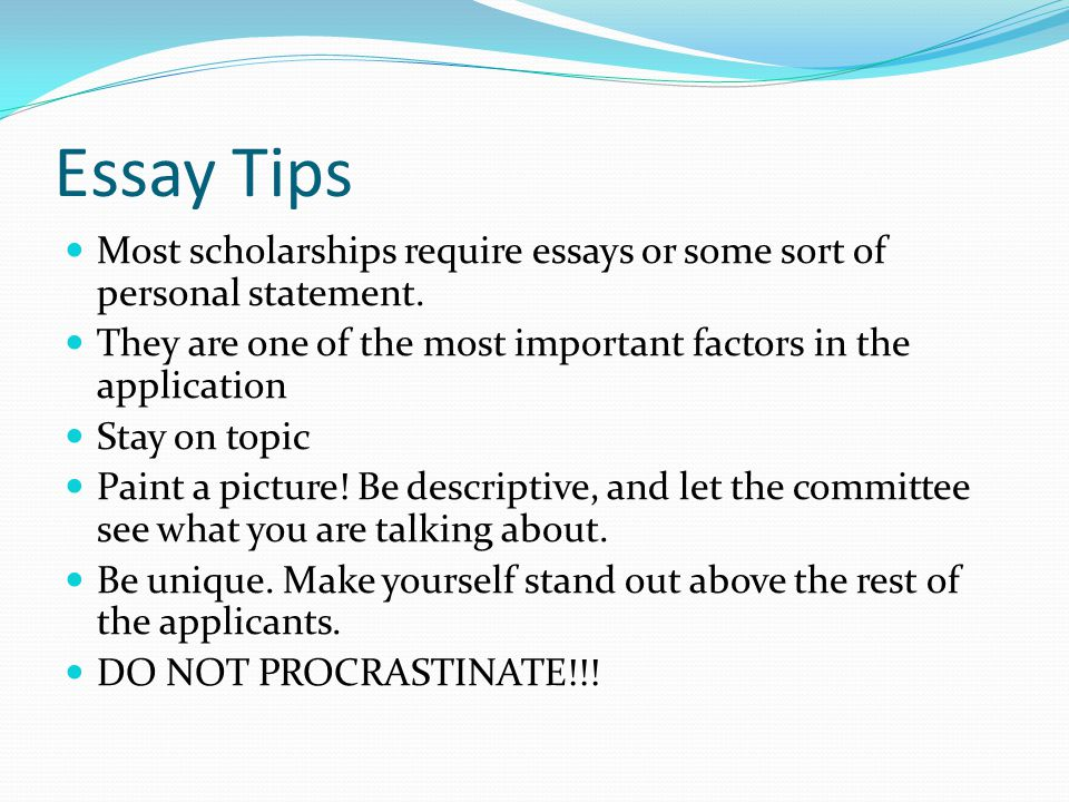 college scholarships that require essays