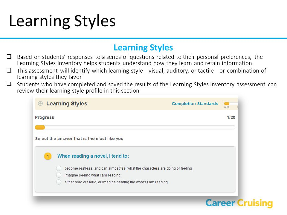 Learning Styles Learning Styles