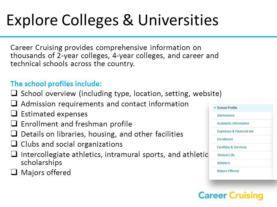Explore Colleges & Universities
