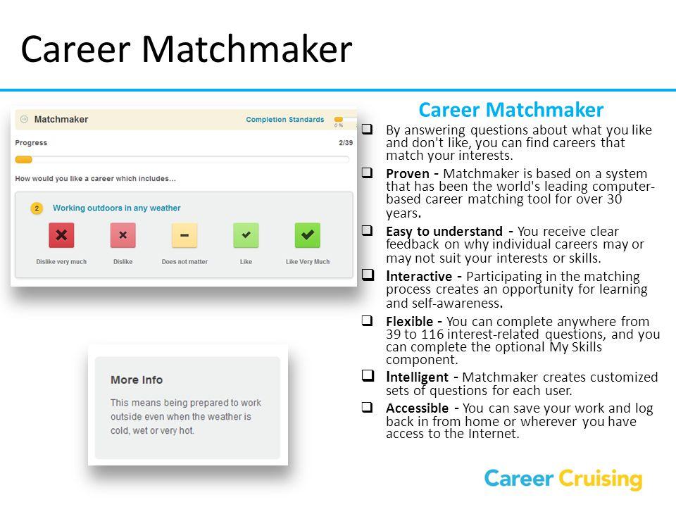 Career Matchmaker Career Matchmaker
