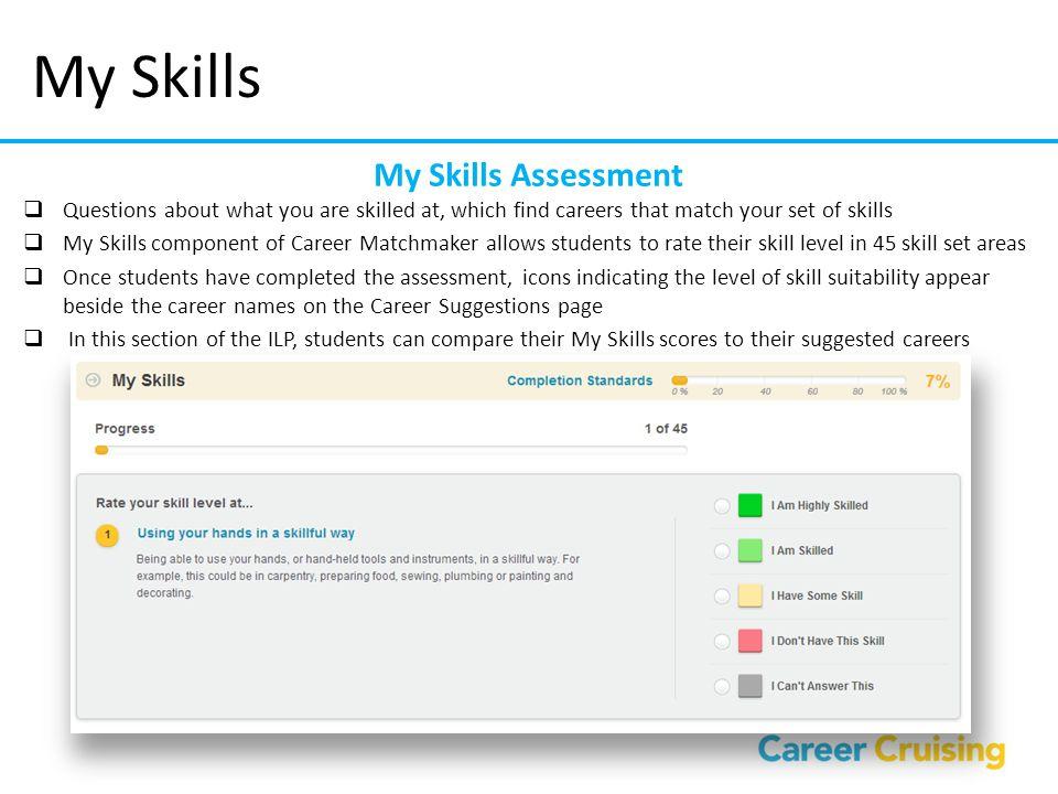 My Skills My Skills Assessment