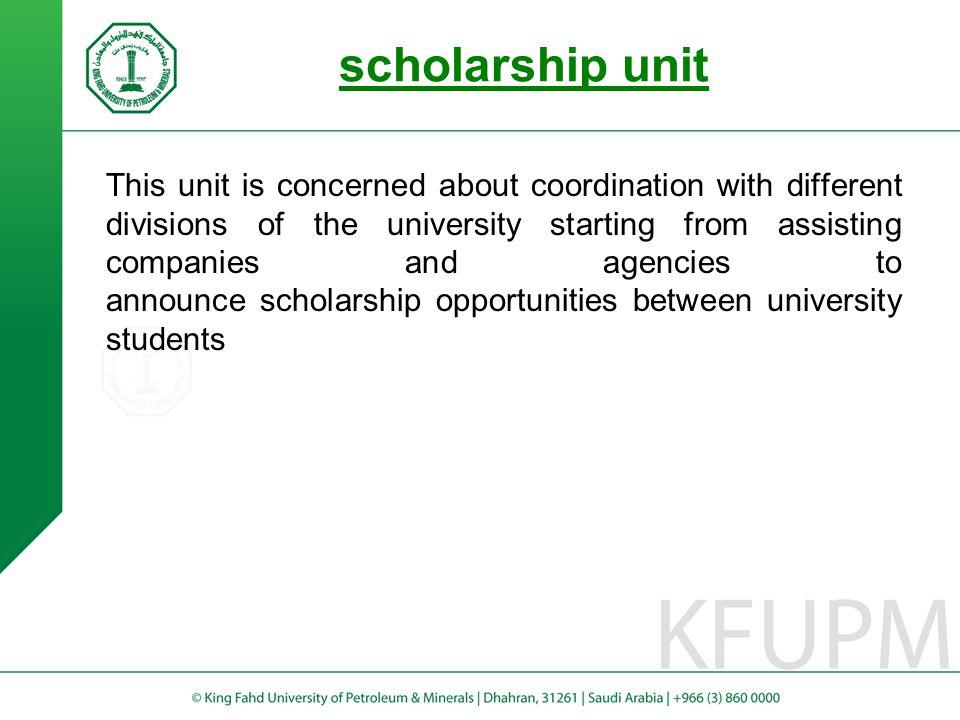 scholarship unit