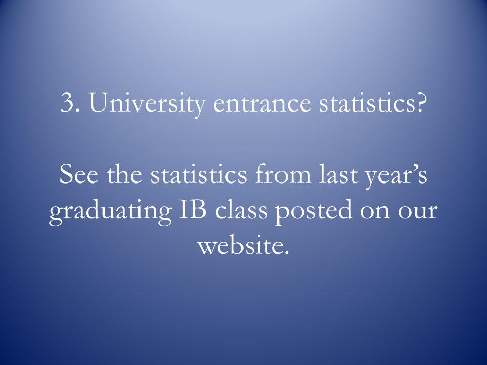 3. University entrance statistics