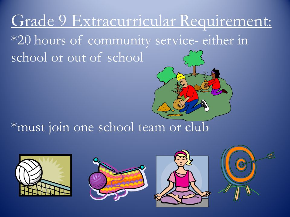Grade 9 Extracurricular Requirement: