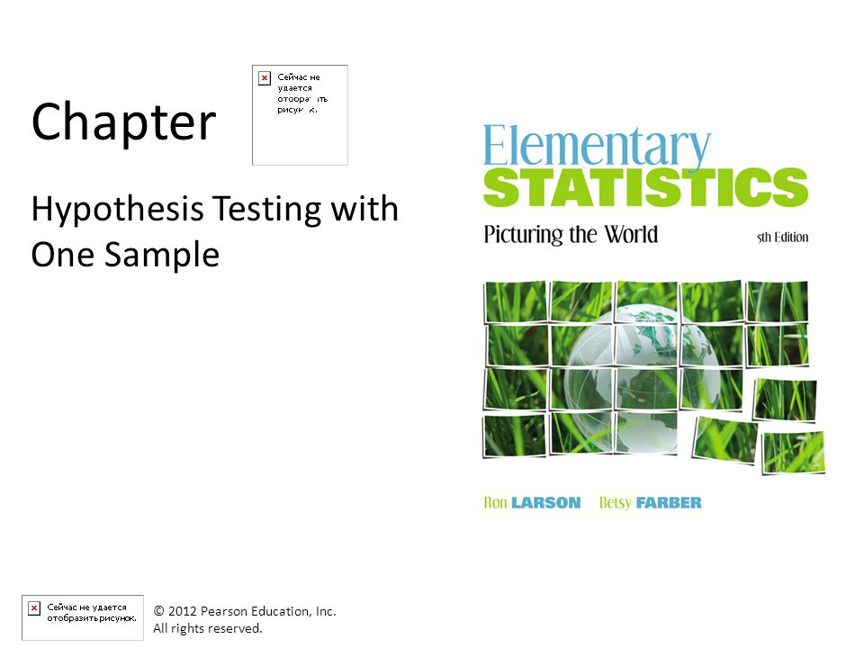 7 Chapter Hypothesis Testing with One Sample