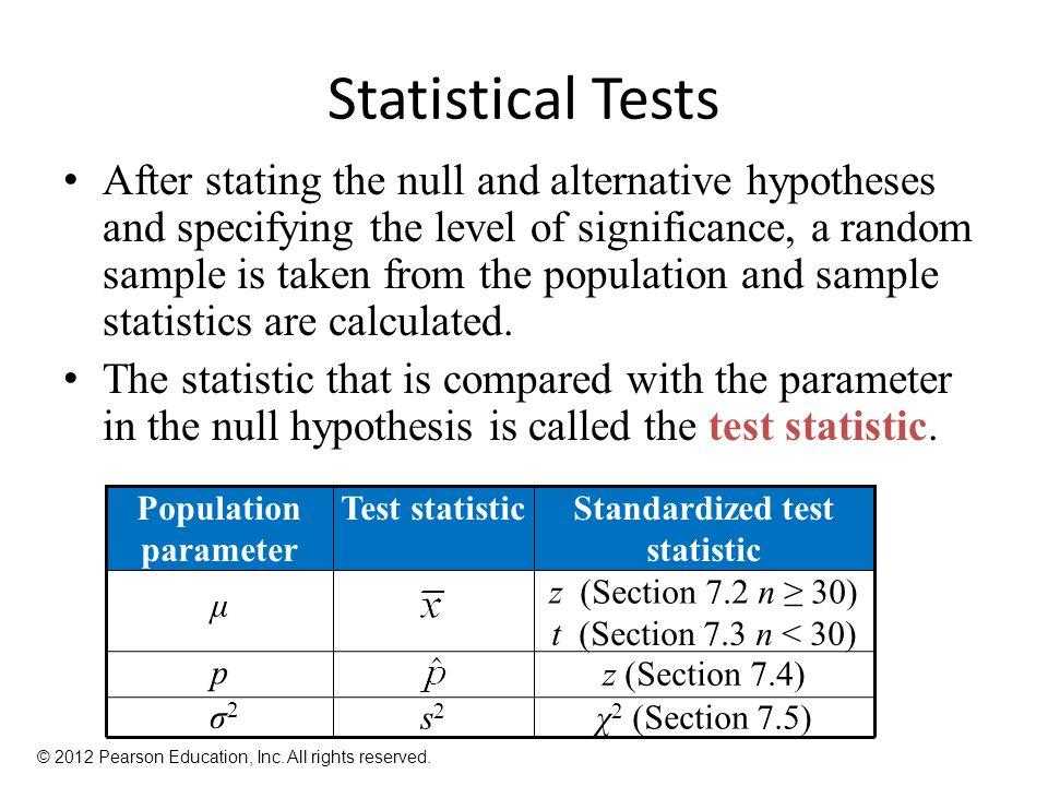 Standardized test statistic