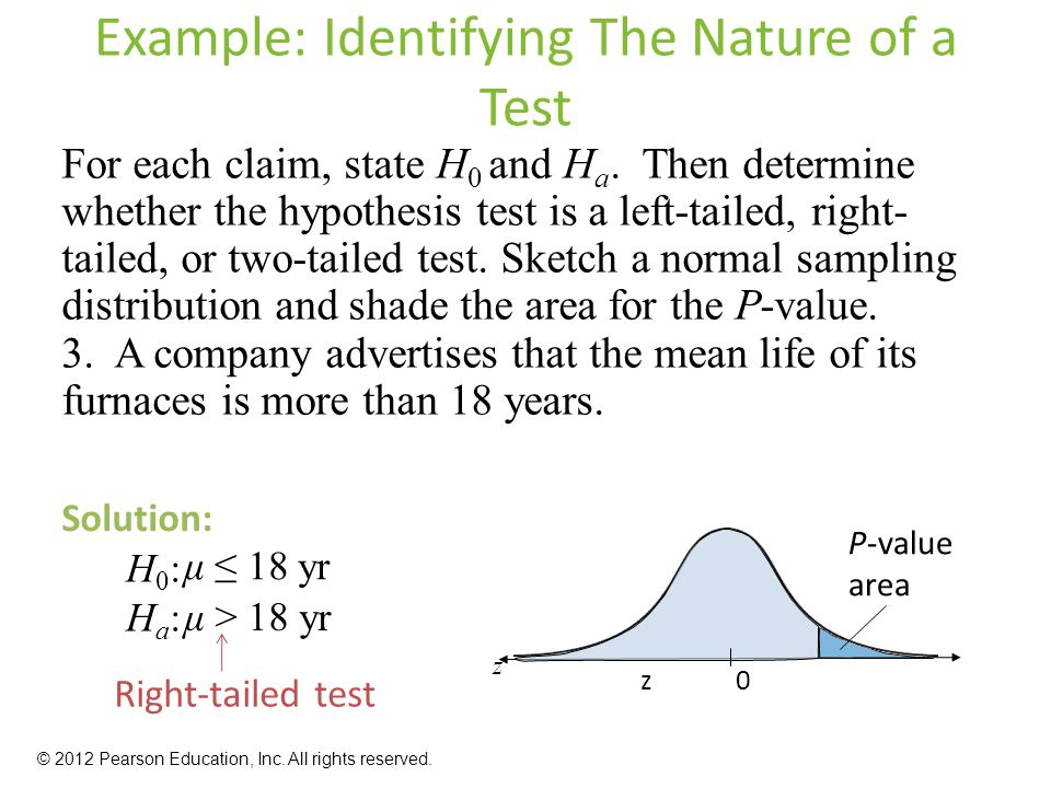 Example: Identifying The Nature of a Test