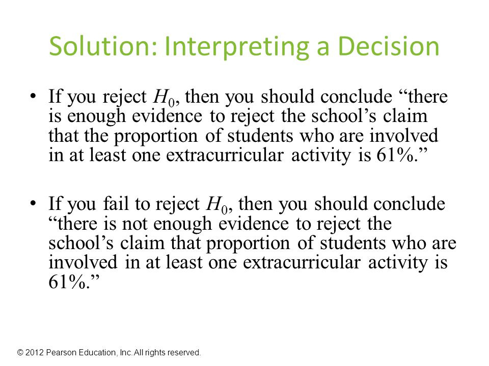 Solution: Interpreting a Decision
