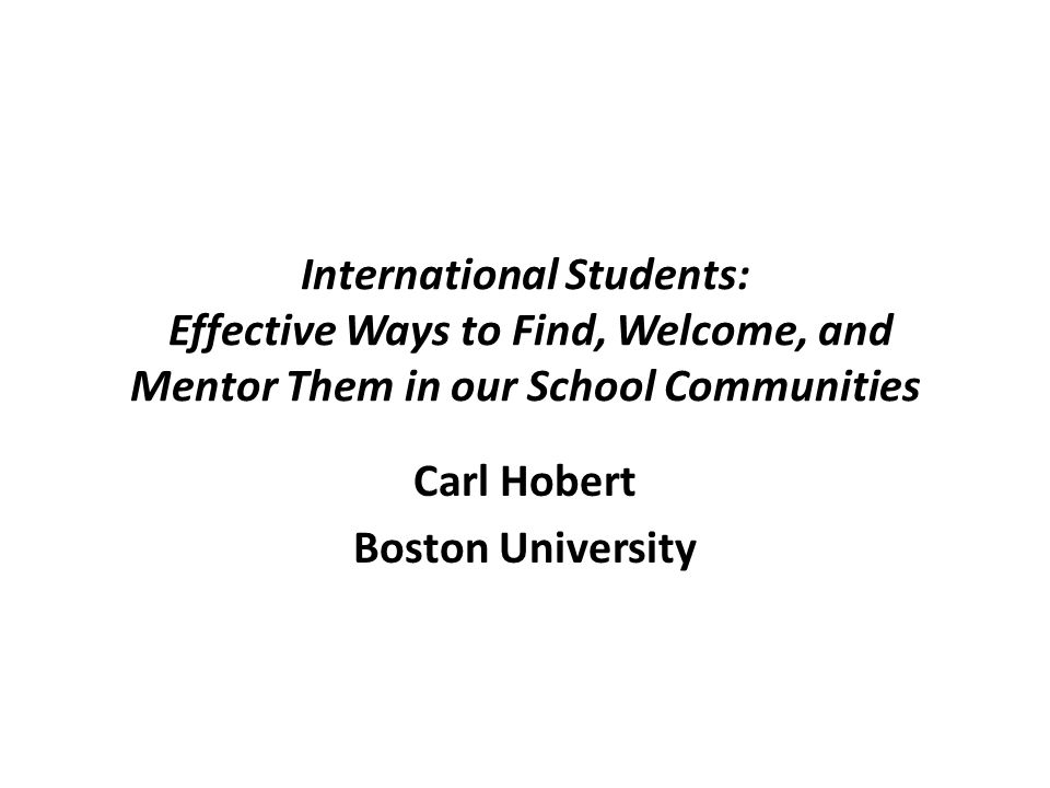 Carl Hobert Boston University