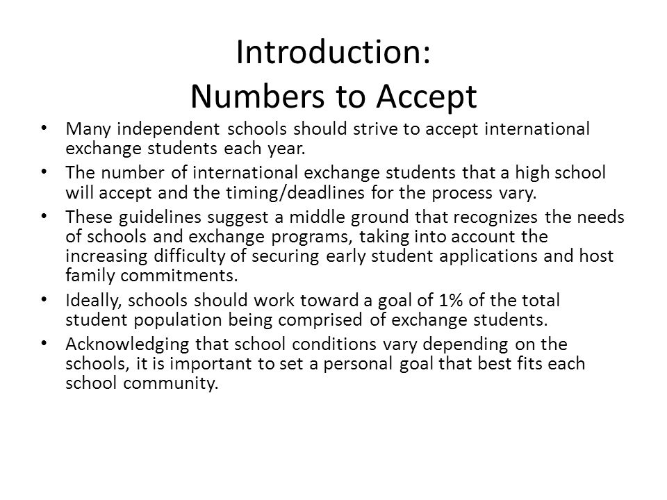 Introduction: Numbers to Accept