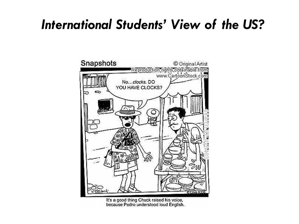 International Students' View of the US