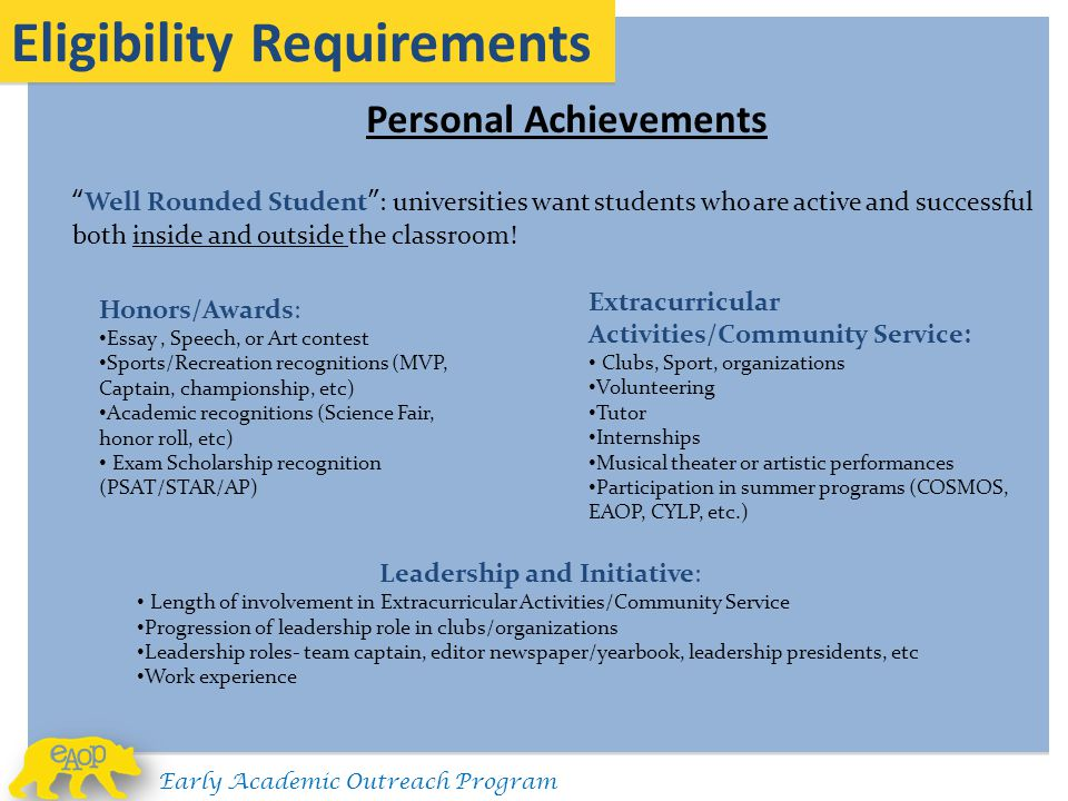 Leadership and Initiative: