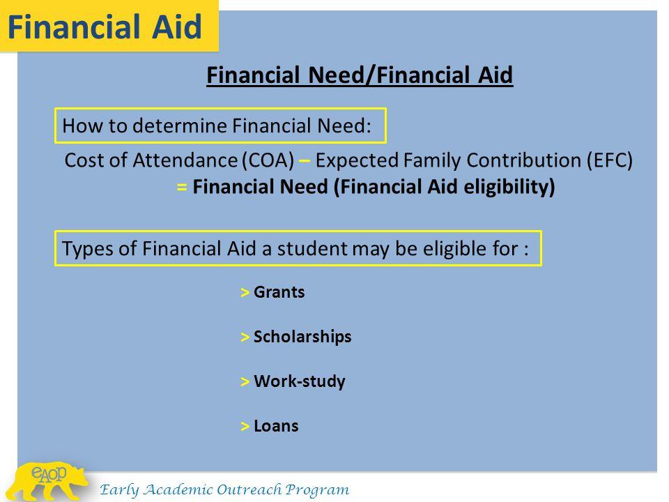 Financial Aid Financial Need/Financial Aid