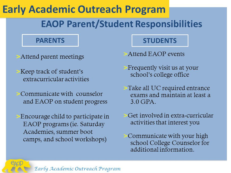 Early Academic Outreach Program
