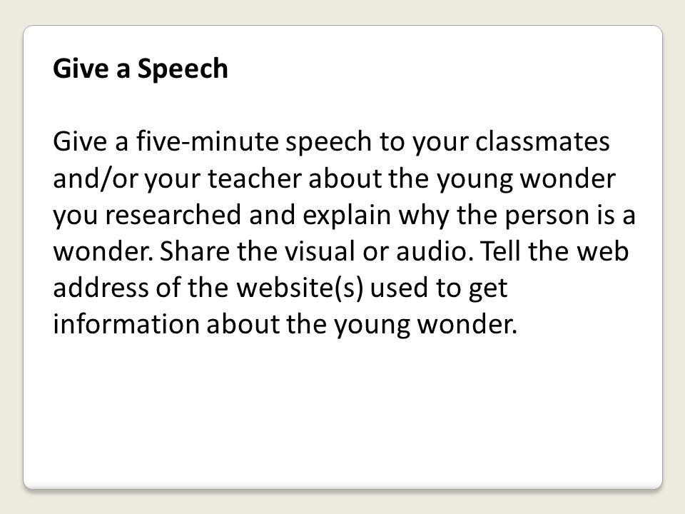 Give a Speech