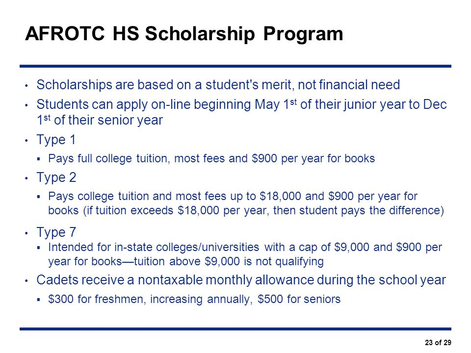 AFROTC HS Scholarship Program