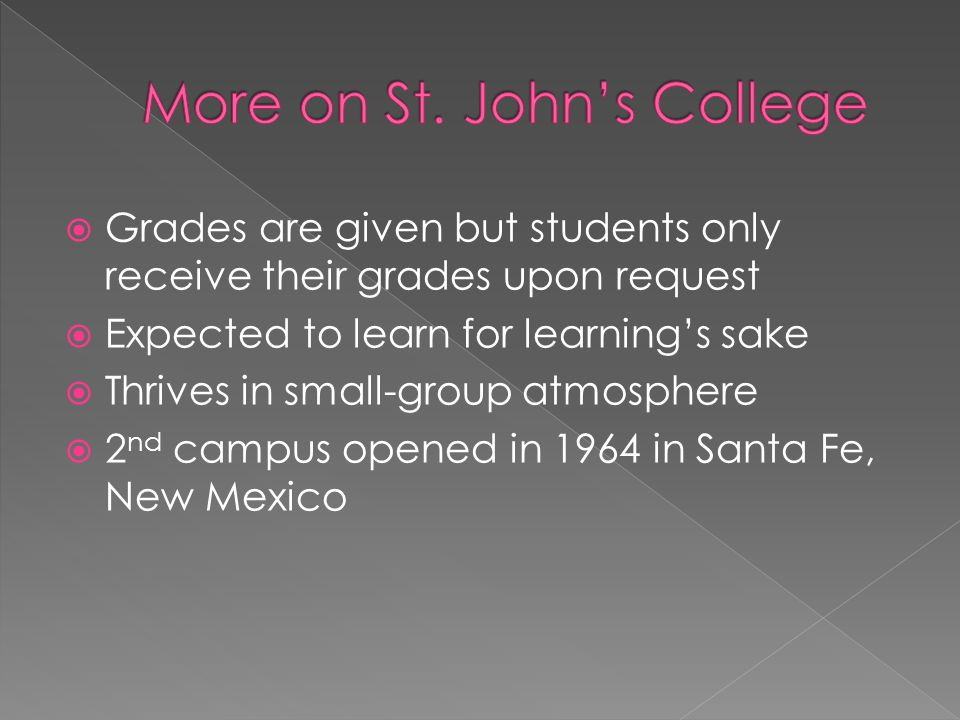 More on St. John's College