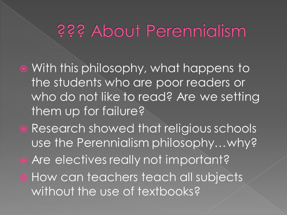 About Perennialism
