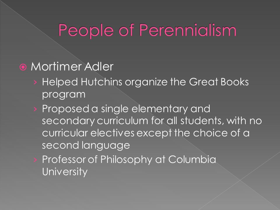 People of Perennialism