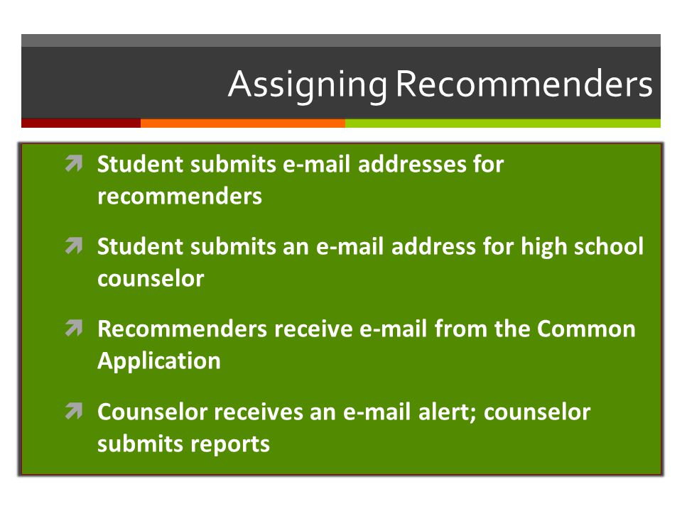 Assigning Recommenders
