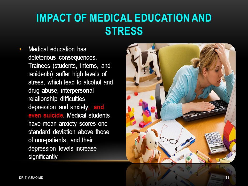 Impact of medical education and stress