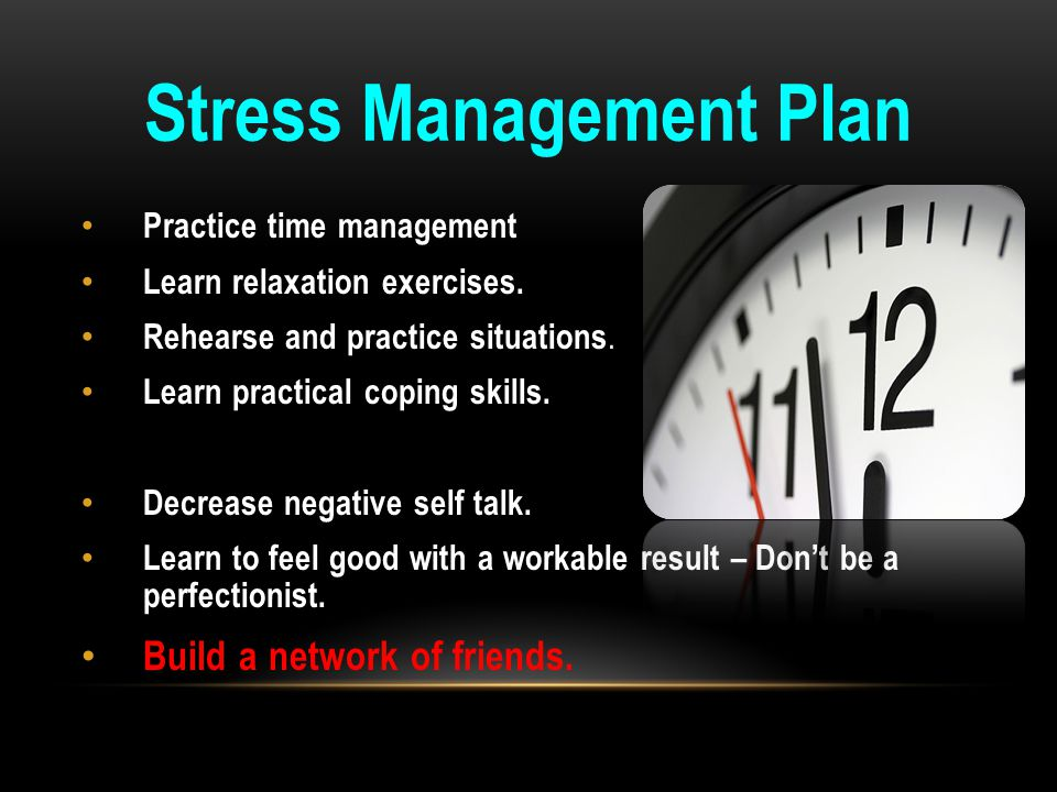 Stress Management Plan