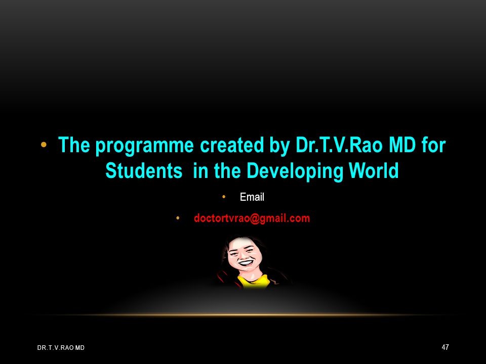 The programme created by Dr. T. V