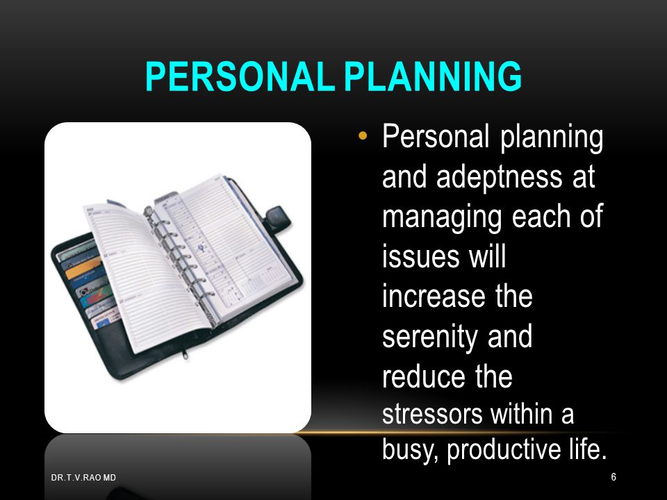 Personal planning