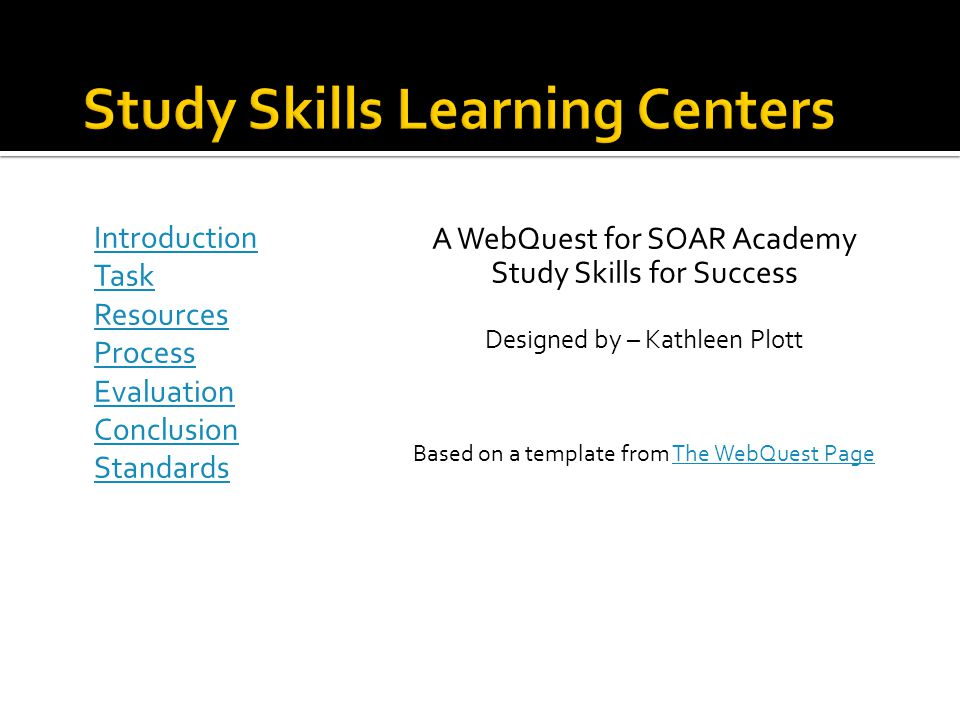 Study Skills Learning Centers