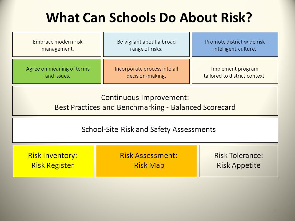 What Can Schools Do About Risk