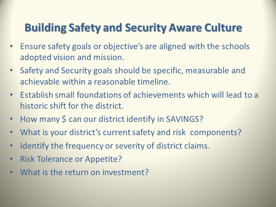 Building Safety and Security Aware Culture