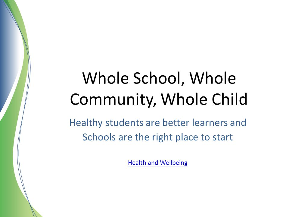 Whole School, Whole Community, Whole Child