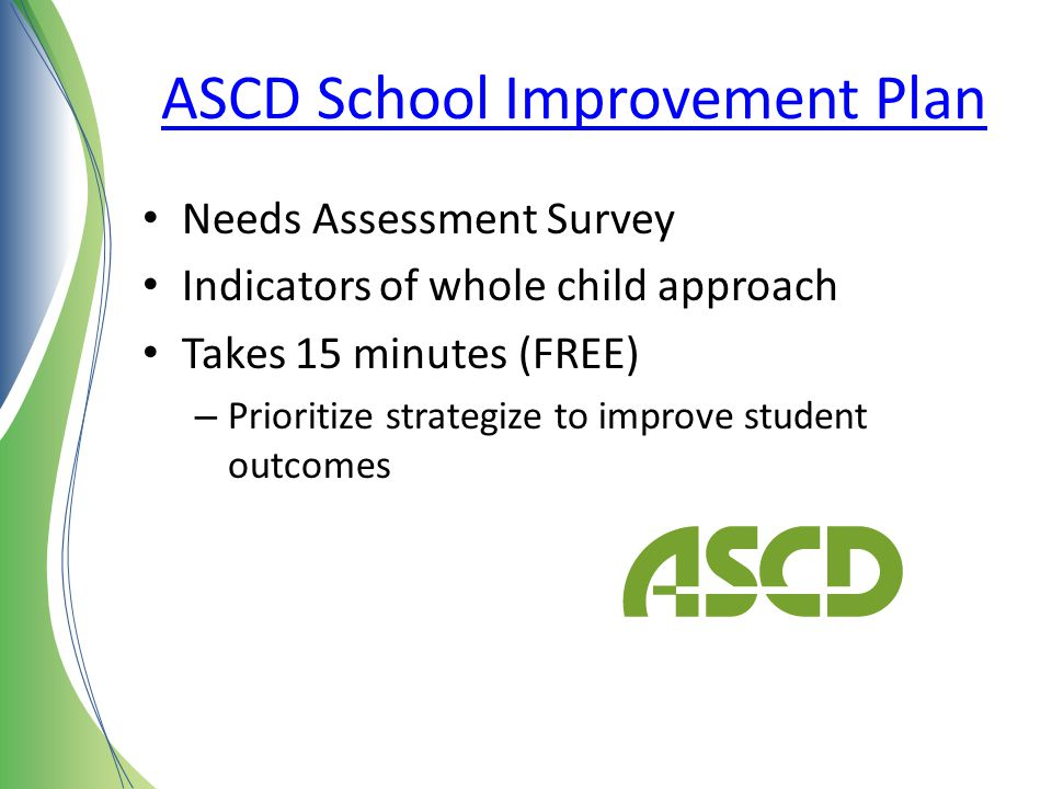 ASCD School Improvement Plan
