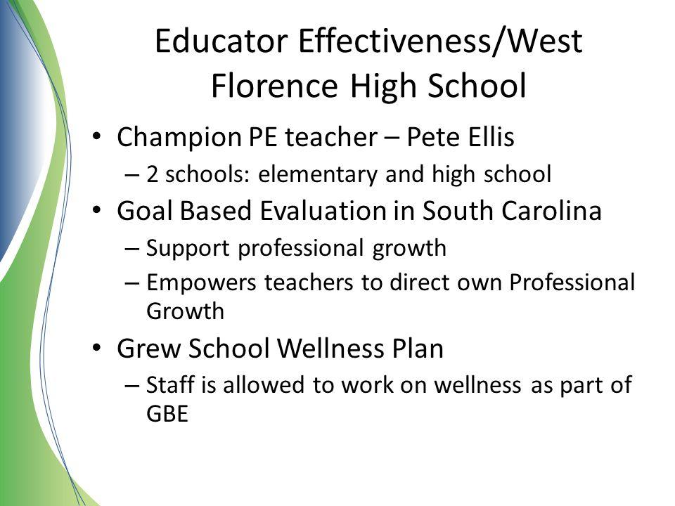 Educator Effectiveness/West Florence High School