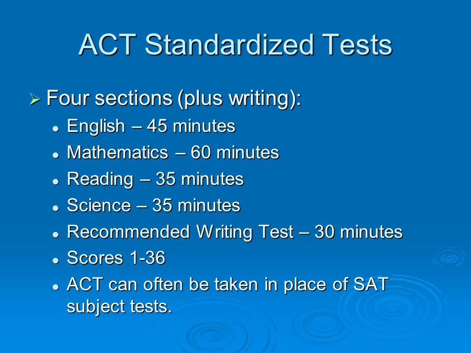 ACT Standardized Tests
