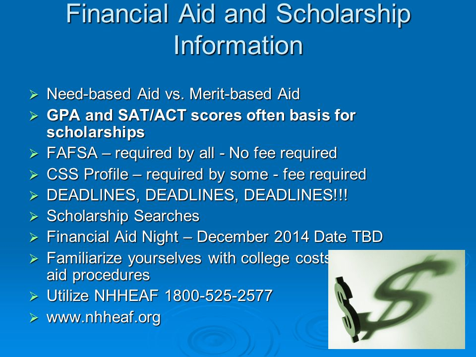 Financial Aid and Scholarship Information