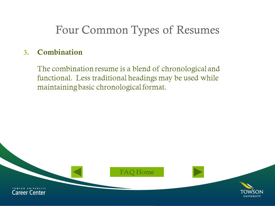 Four Common Types of Resumes