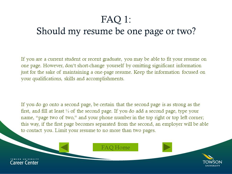 resume rules one page eliolera