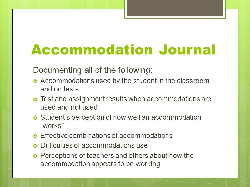 Accommodation Journal