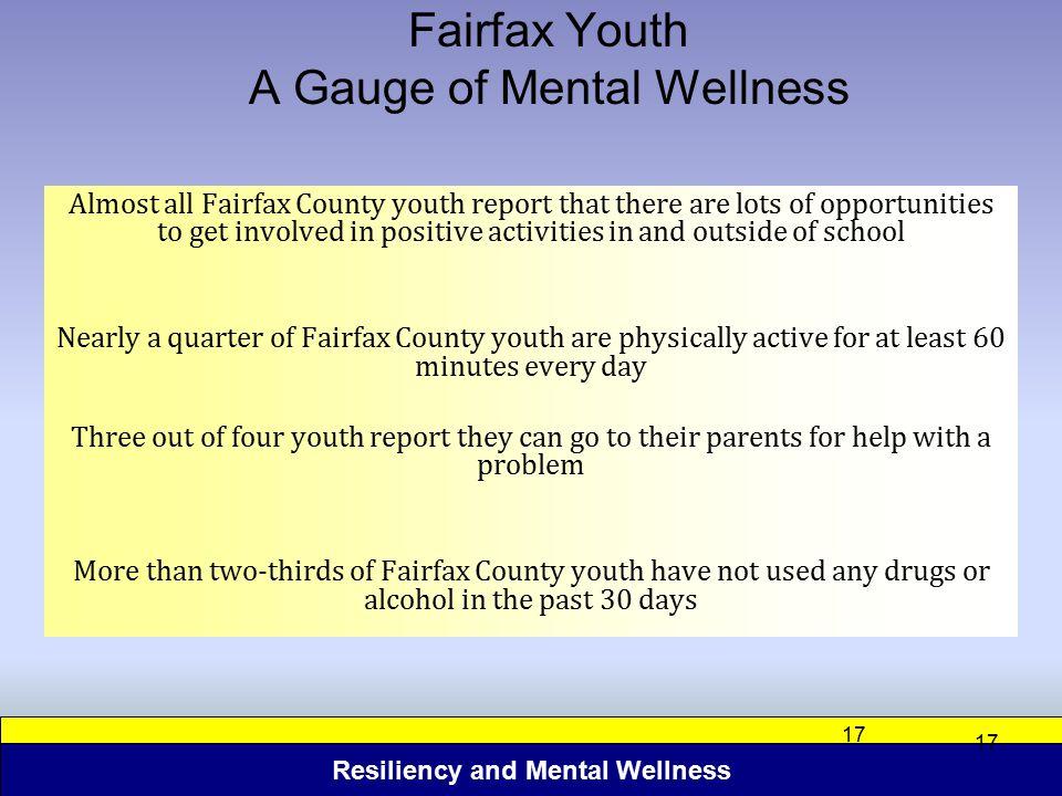 Fairfax Youth A Gauge of Mental Wellness