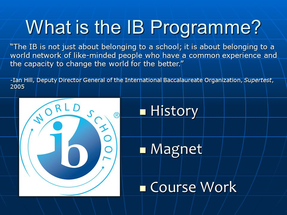 What is the IB Programme