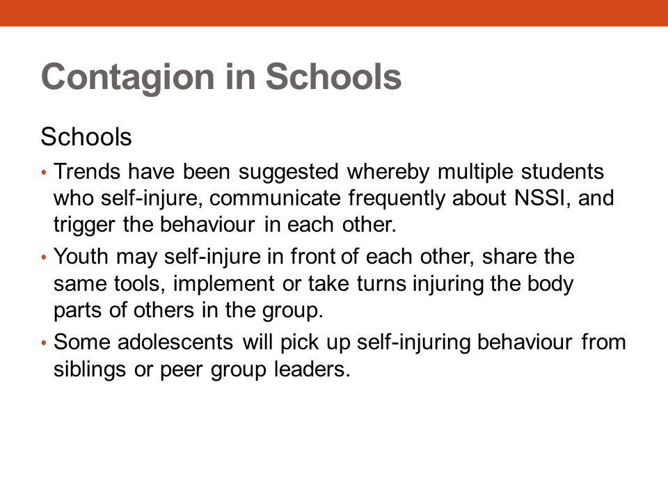 Contagion in Schools Schools