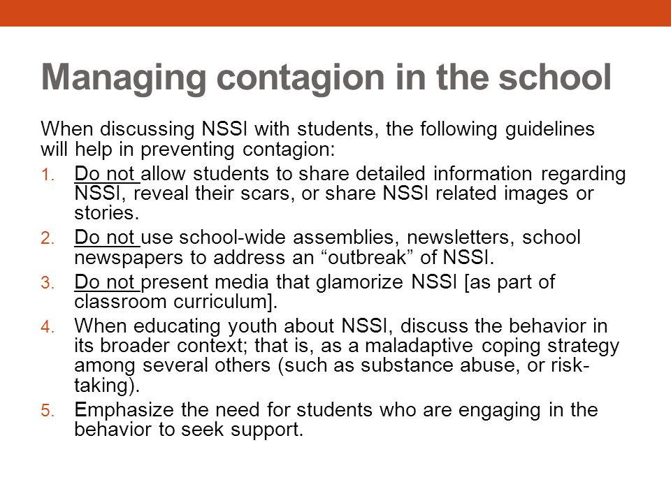 Managing contagion in the school