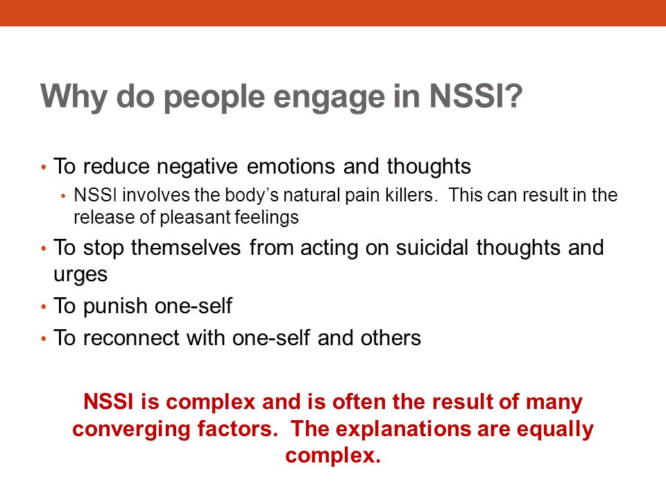 Why do people engage in NSSI