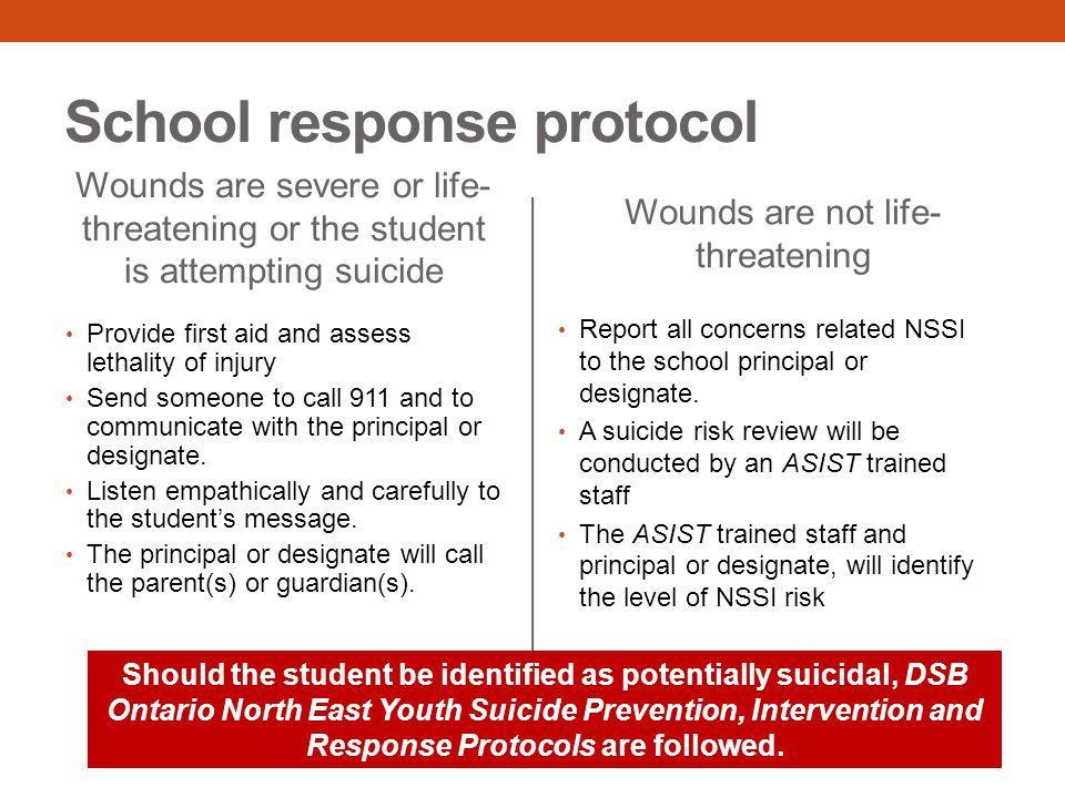 School response protocol