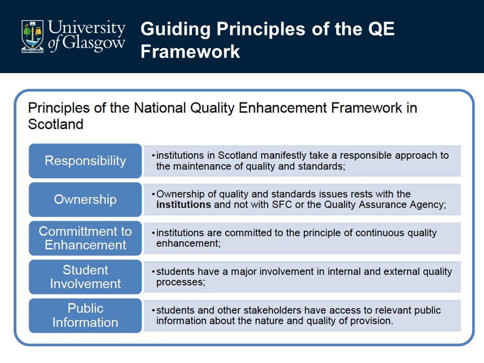 Guiding Principles of the QE Framework